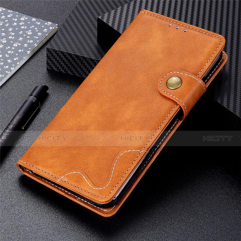 Custodia Portafoglio In Pelle Cover con Supporto per Motorola Moto G9 Plus Arancione