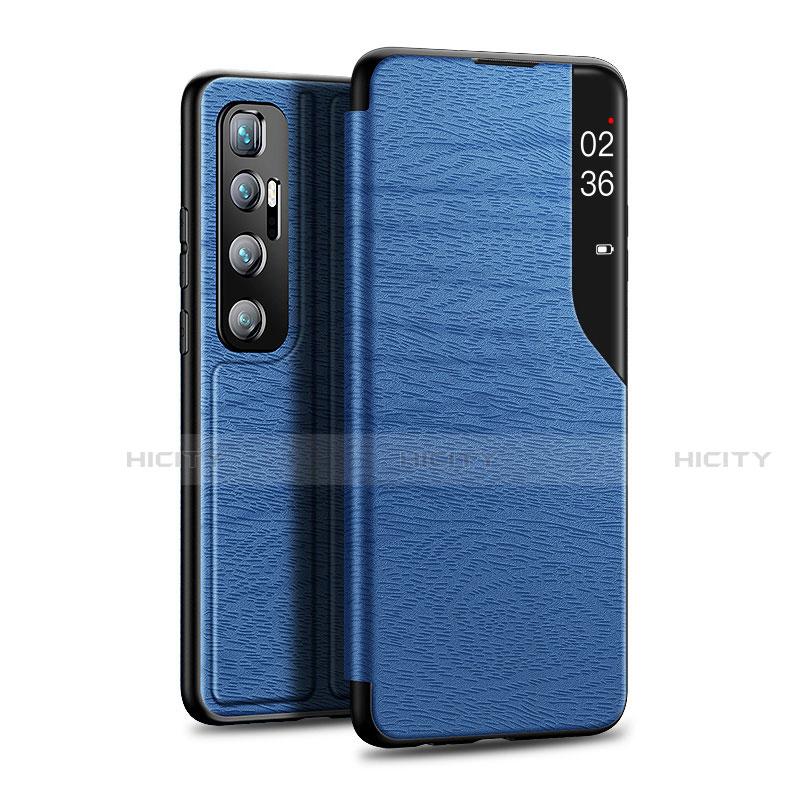 Custodia Portafoglio In Pelle Cover con Supporto per Xiaomi Mi 10 Ultra Blu
