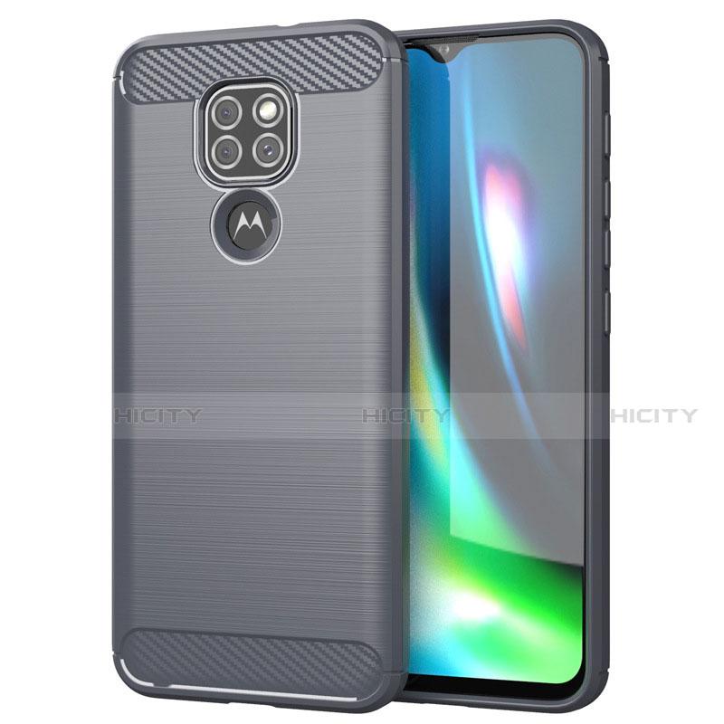 Custodia Silicone Cover Morbida Line S01 per Motorola Moto G9 Play Grigio