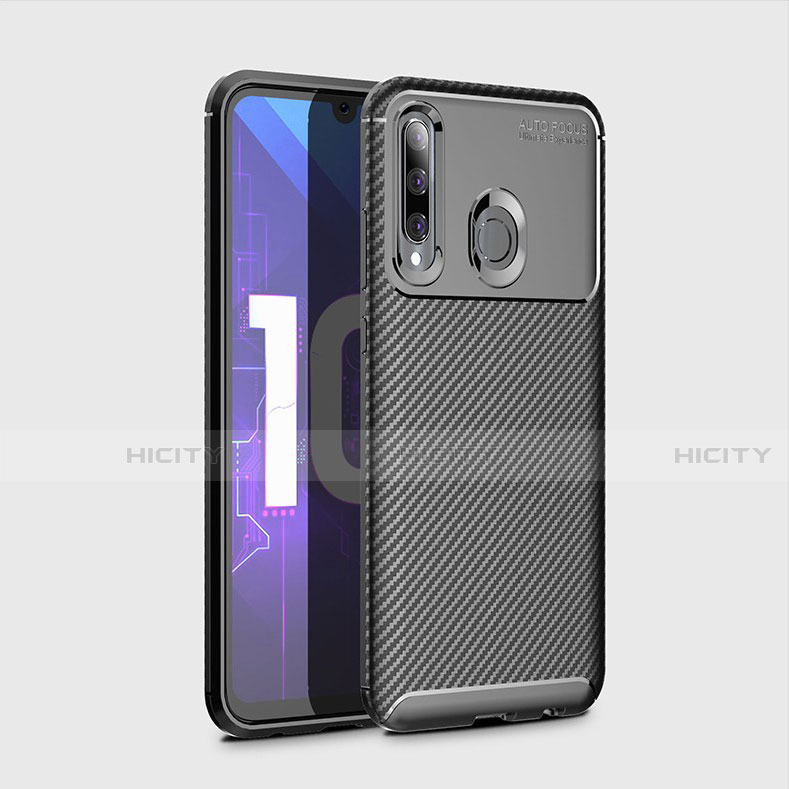 Custodia Silicone Cover Morbida Spigato per Huawei Honor 20 Lite Nero