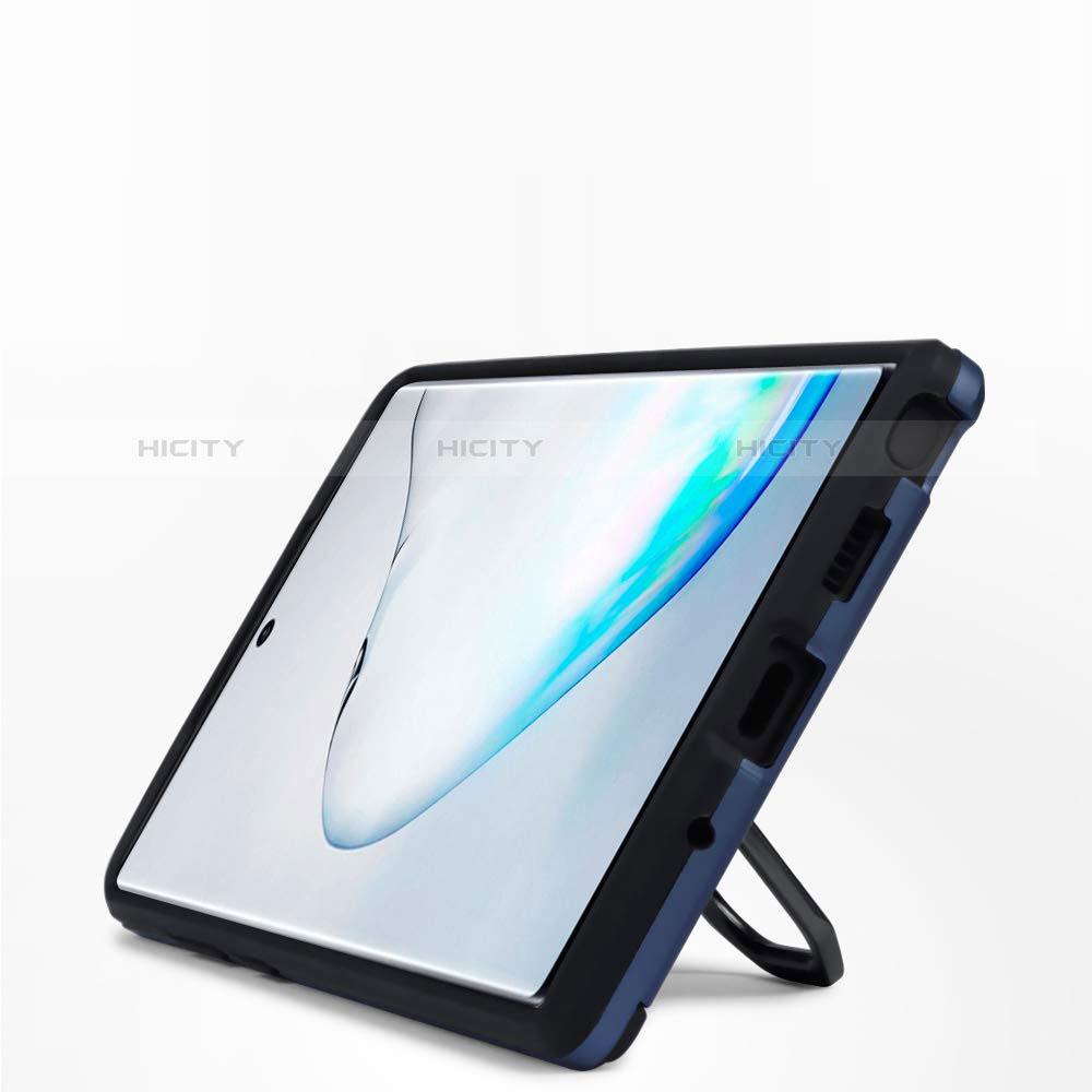 Custodia Silicone e Plastica Opaca Cover con Magnetico Supporto A03 per Samsung Galaxy Note 10 Plus 5G