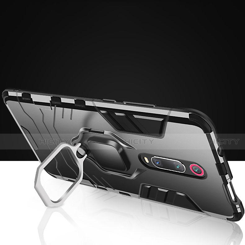 Custodia Silicone e Plastica Opaca Cover con Magnetico Supporto per Xiaomi Mi 9T