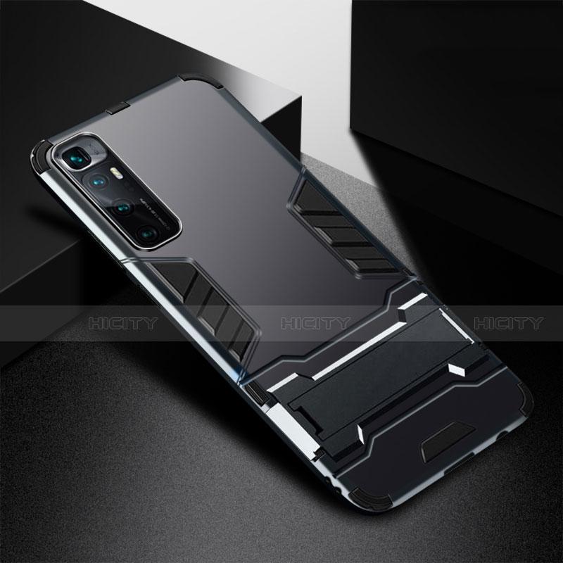 Custodia Silicone e Plastica Opaca Cover con Supporto A01 per Xiaomi Mi 10 Ultra Nero