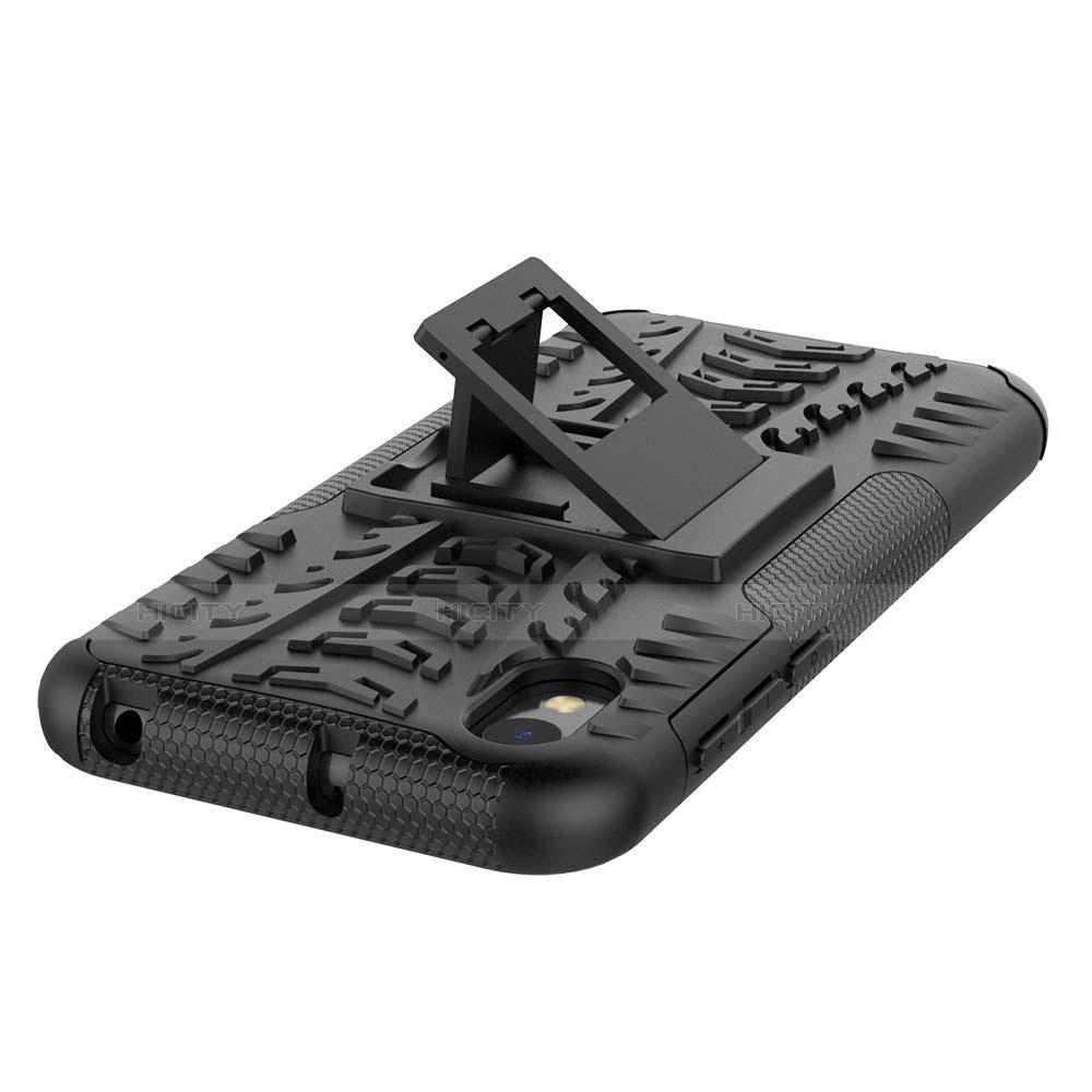 Custodia Silicone e Plastica Opaca Cover con Supporto per Huawei Enjoy 8S