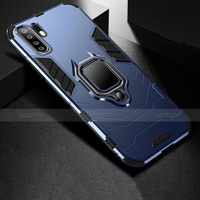 Custodia Silicone e Plastica Opaca Cover con Supporto per Huawei P30 Pro