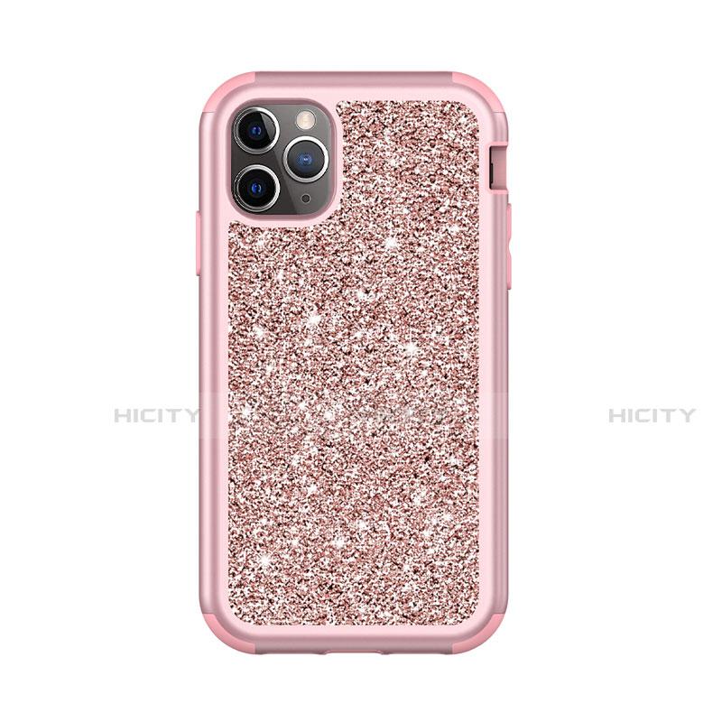 Custodia Silicone e Plastica Opaca Cover Fronte e Retro 360 Gradi Bling-Bling per Apple iPhone 11 Pro Max