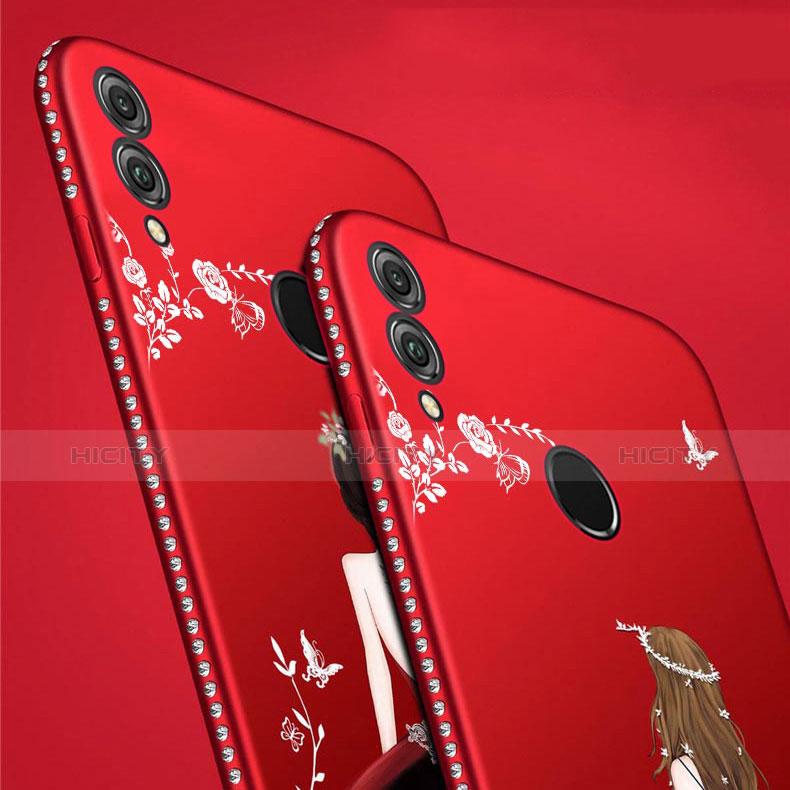 Custodia Silicone Gel Morbida Abito Ragazza Cover per Huawei P Smart (2019)