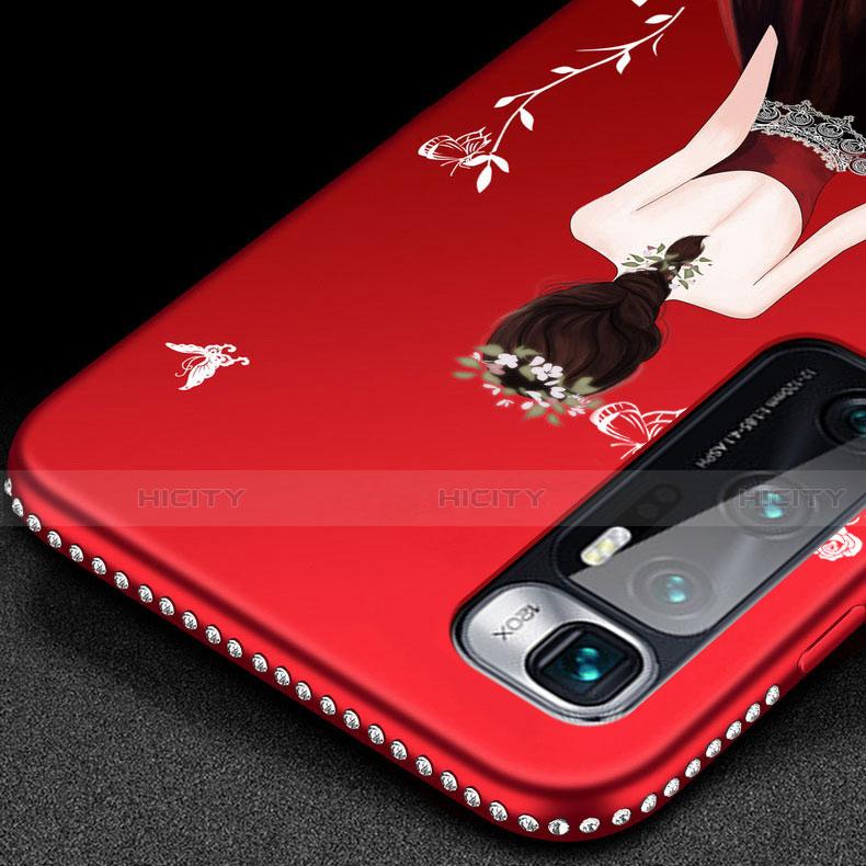 Custodia Silicone Gel Morbida Abito Ragazza Cover per Xiaomi Mi 10 Ultra