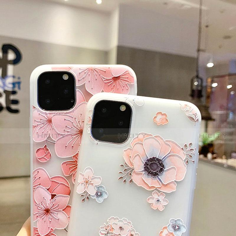 Custodia Silicone Gel Morbida Fiori Cover H19 per Apple iPhone 11 Pro