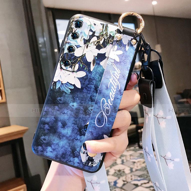 Custodia Silicone Gel Morbida Fiori Cover per Xiaomi Mi 10 Ultra