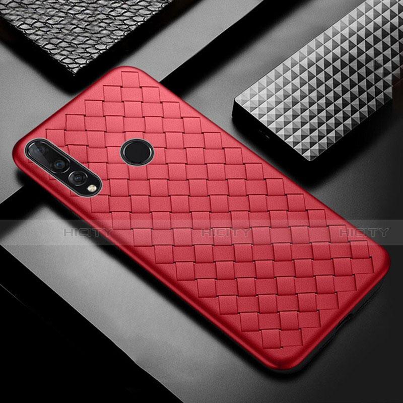 Custodia Silicone Morbida In Pelle Cover A01 per Huawei Honor 20 Lite Rosso