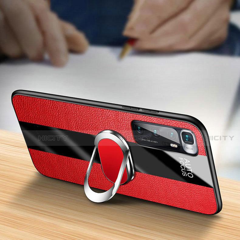 Custodia Silicone Morbida In Pelle Cover con Magnetico Anello Supporto per Xiaomi Mi 10 Ultra