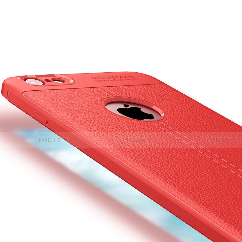 Custodia Per Iphone 6/6s Plus Rosso Cover Morbido Nuovo Anti