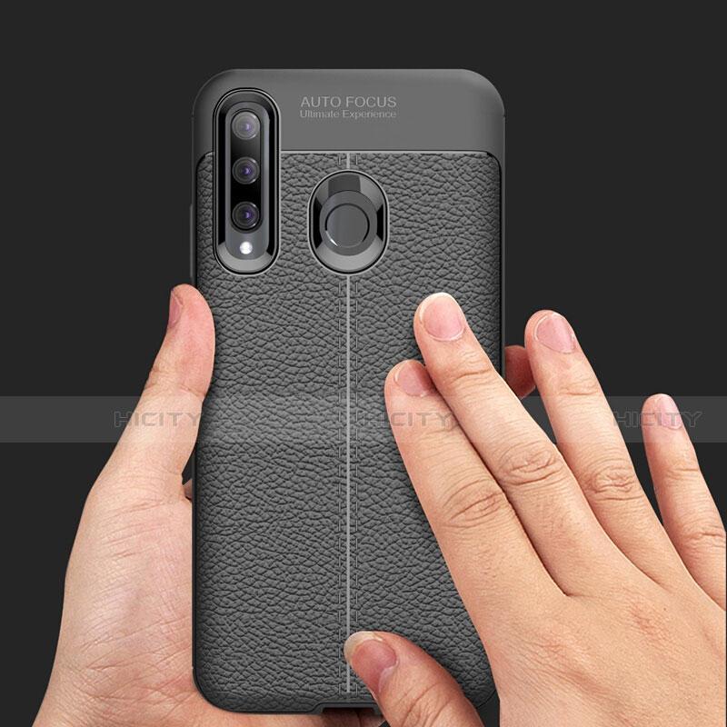 Custodia Silicone Morbida In Pelle Cover S01 per Huawei Honor 20 Lite