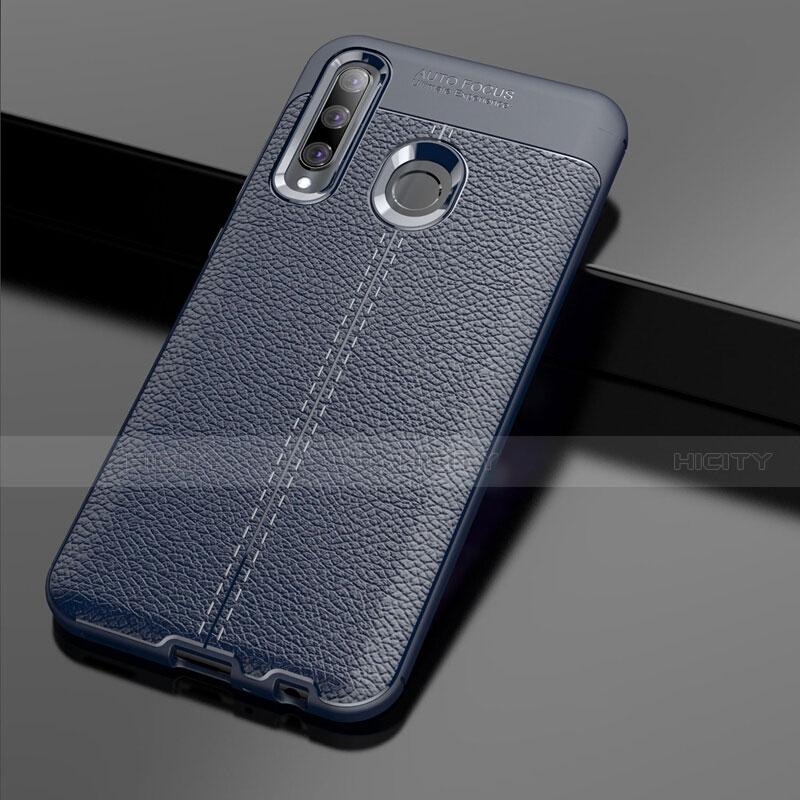 Custodia Silicone Morbida In Pelle Cover S01 per Huawei Honor 20 Lite Blu