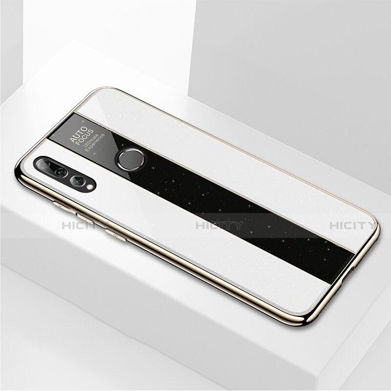 Custodia Silicone Specchio Laterale Cover M02 per Huawei Honor 20 Lite Bianco