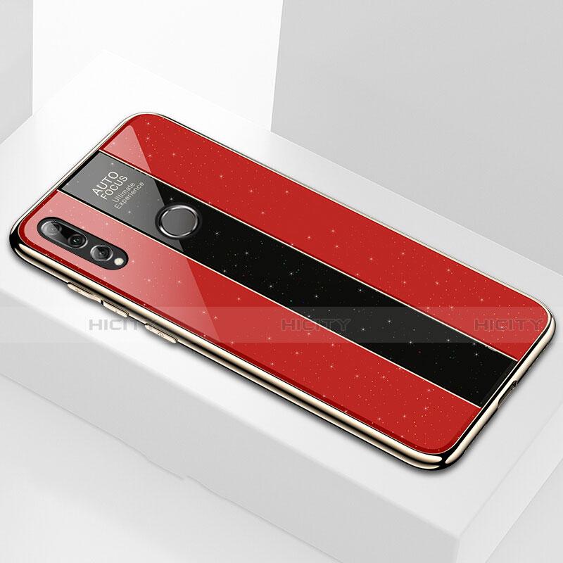 Custodia Silicone Specchio Laterale Cover M02 per Huawei Honor 20 Lite Rosso