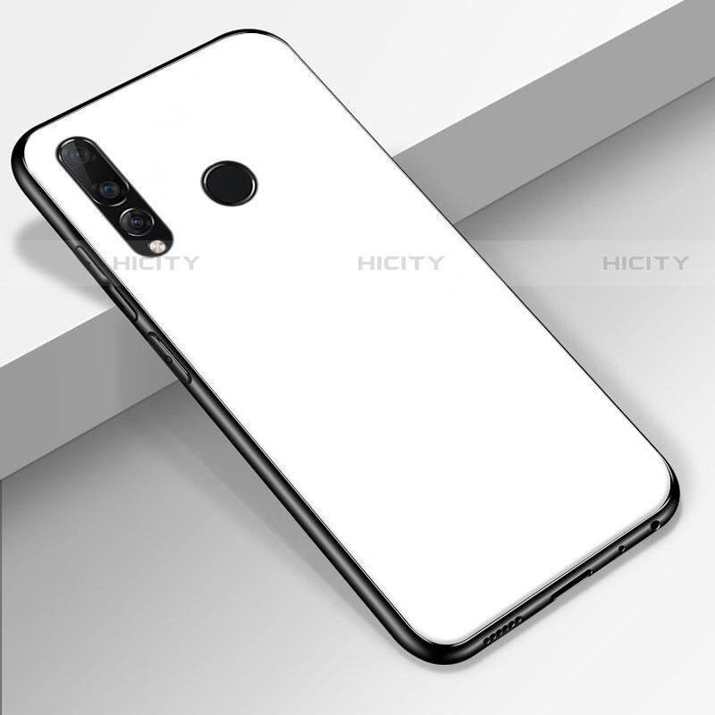 Custodia Silicone Specchio Laterale Cover per Huawei Honor 20 Lite Bianco