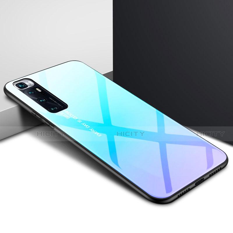 Custodia Silicone Specchio Laterale Cover per Xiaomi Mi 10 Ultra Cielo Blu