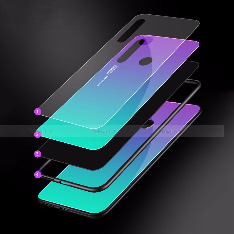 Custodia Silicone Specchio Laterale Sfumato Arcobaleno Cover per Huawei Honor 20 Lite