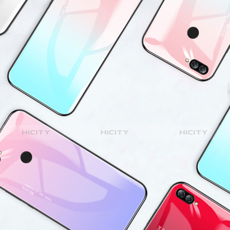Custodia Silicone Specchio Laterale Sfumato Arcobaleno Cover per Huawei P Smart