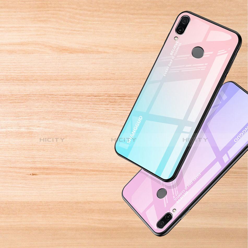 Custodia Silicone Specchio Laterale Sfumato Arcobaleno Cover per Xiaomi Redmi Note 7