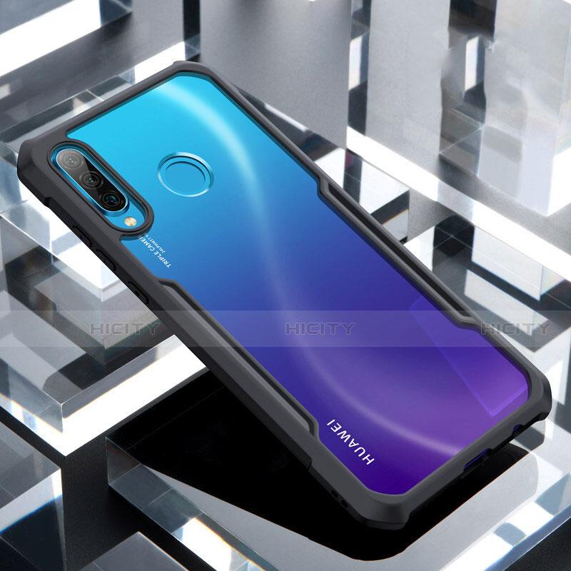 Custodia Silicone Trasparente Specchio Laterale Cover H01 per Huawei P30 Lite