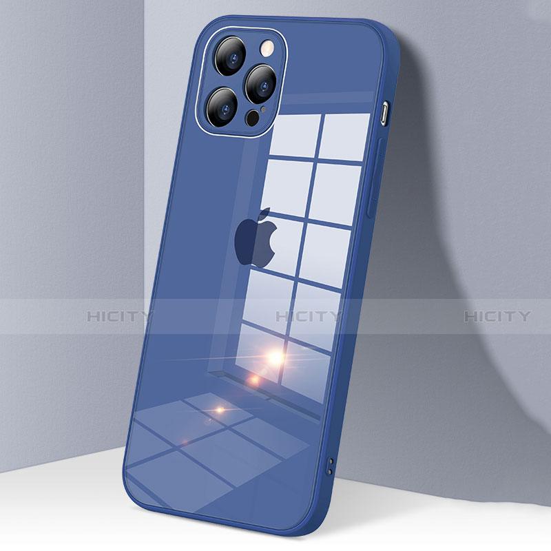 Custodia Silicone Trasparente Specchio Laterale Cover H06 per Apple iPhone 12 Pro Max