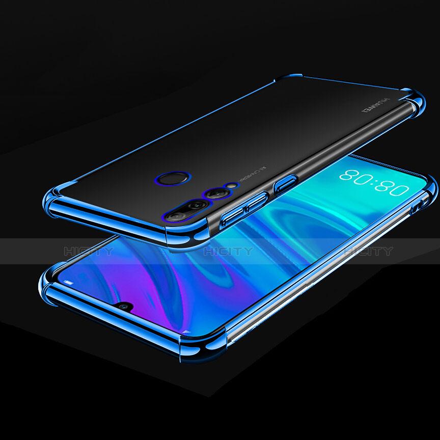 Custodia Silicone Trasparente Ultra Sottile Cover Morbida H01 per Huawei Honor 20 Lite Blu