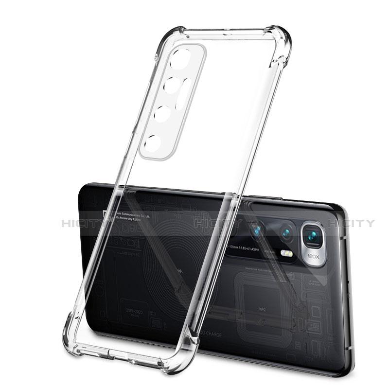 Custodia Silicone Trasparente Ultra Sottile Cover Morbida H01 per Xiaomi Mi 10 Ultra Chiaro