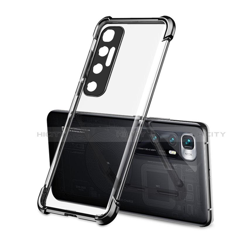 Custodia Silicone Trasparente Ultra Sottile Cover Morbida H01 per Xiaomi Mi 10 Ultra Nero
