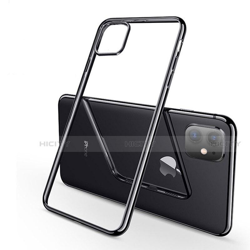 Custodia Silicone Trasparente Ultra Sottile Cover Morbida H03 per Apple iPhone 11 Nero