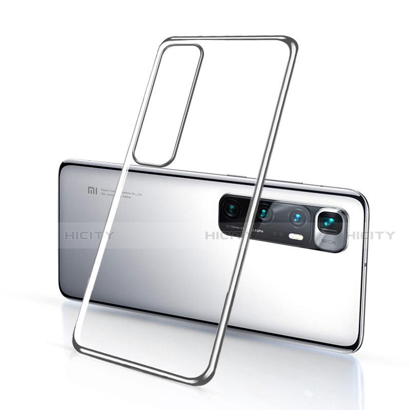 Custodia Silicone Trasparente Ultra Sottile Cover Morbida H03 per Xiaomi Mi 10 Ultra Argento