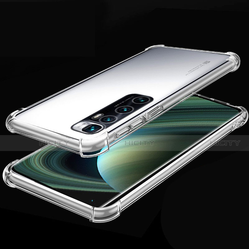 Custodia Silicone Trasparente Ultra Sottile Cover Morbida H04 per Xiaomi Mi 10 Ultra Chiaro