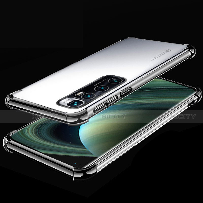 Custodia Silicone Trasparente Ultra Sottile Cover Morbida H04 per Xiaomi Mi 10 Ultra Nero