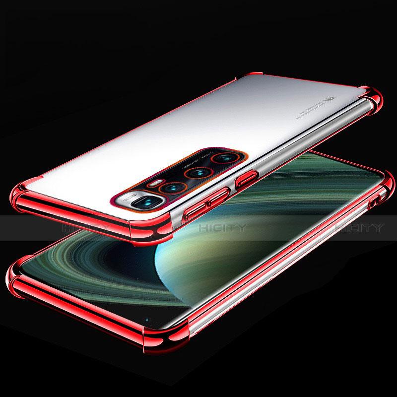 Custodia Silicone Trasparente Ultra Sottile Cover Morbida H04 per Xiaomi Mi 10 Ultra Rosso