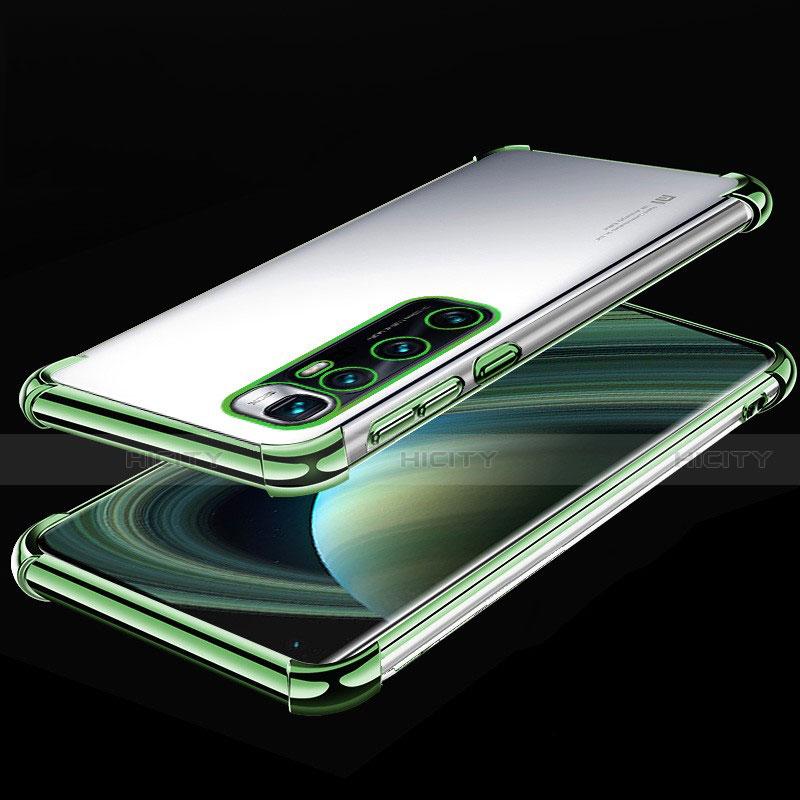 Custodia Silicone Trasparente Ultra Sottile Cover Morbida H04 per Xiaomi Mi 10 Ultra Verde