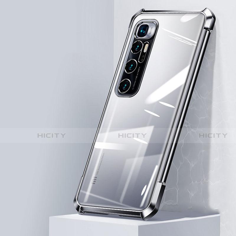 Custodia Silicone Trasparente Ultra Sottile Cover Morbida H05 per Xiaomi Mi 10 Ultra Argento
