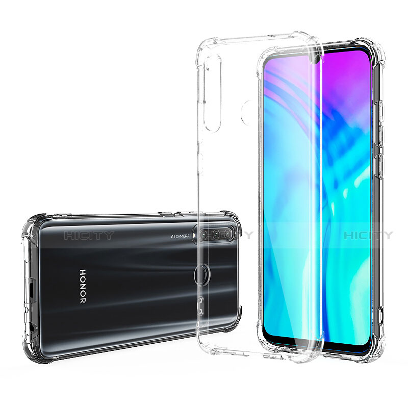 Custodia Silicone Trasparente Ultra Sottile Morbida T02 per Huawei Honor 20 Lite Chiaro