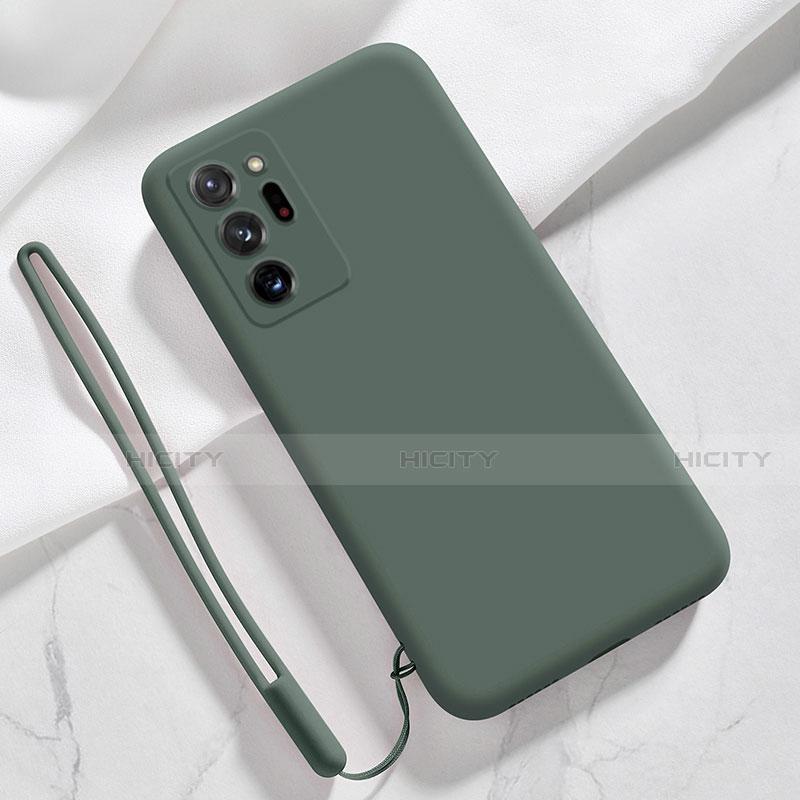Custodia Silicone Ultra Sottile Morbida 360 Gradi Cover N03 per Samsung Galaxy Note 20 Ultra 5G Verde Notte