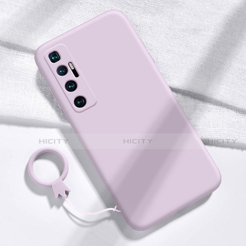 Custodia Silicone Ultra Sottile Morbida 360 Gradi Cover per Xiaomi Mi 10 Ultra Lavanda