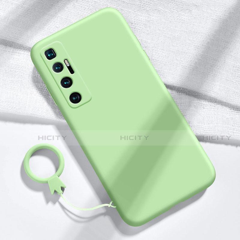 Custodia Silicone Ultra Sottile Morbida 360 Gradi Cover per Xiaomi Mi 10 Ultra Verde Pastello