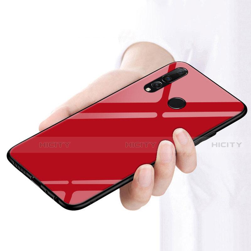 Custodia Silicone Ultra Sottile Morbida Specchio per Huawei Honor 20 Lite Rosso