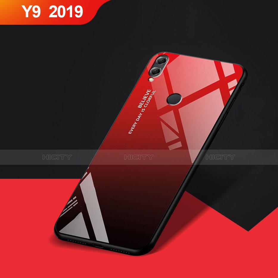 Custodia Silicone Ultra Sottile Morbida Specchio per Huawei Y9 (2019) Rosso