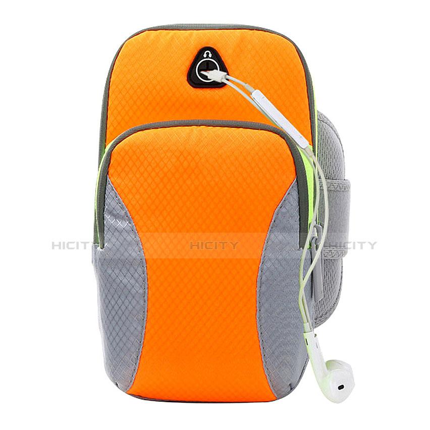 Fascia da Braccio Armband Corsa Sportiva Diamante Universale B21 Arancione
