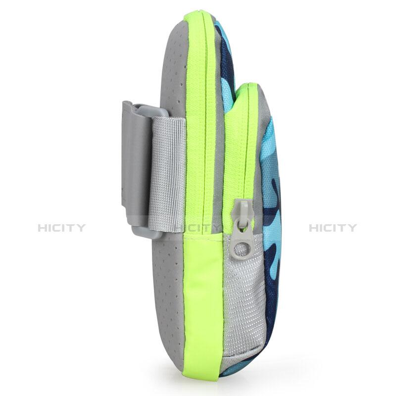 Fascia da Braccio Custodia Armband Corsa Sportiva Universale B23 Blu