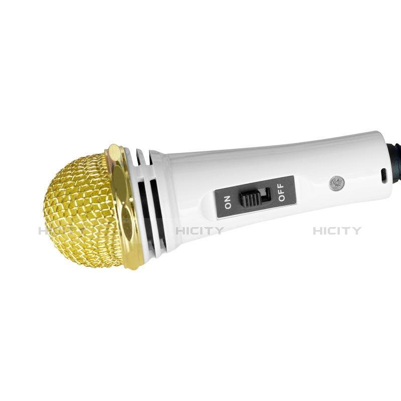 Microfono Mini Stereo Karaoke 3.5mm con Supporto M07 Bianco