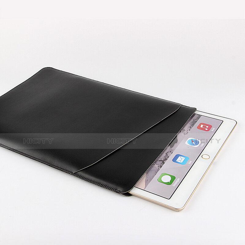Morbido Pelle Custodia Marsupio Tasca per Apple iPad Pro 12.9 Nero