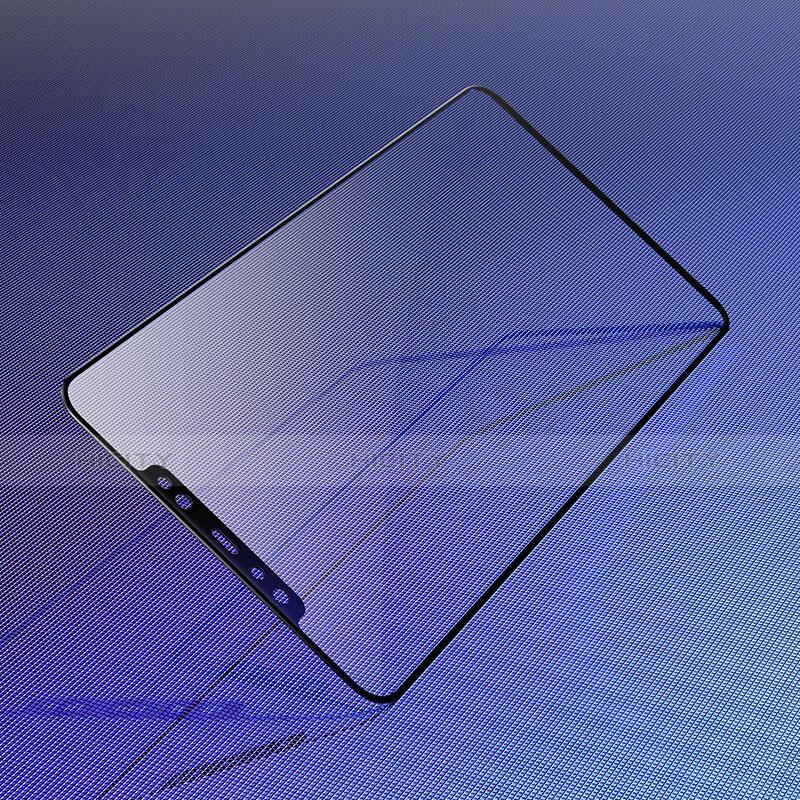 Pellicola in Vetro Temperato Protettiva Integrale Proteggi Schermo Film F02 per Xiaomi Mi 8 Pro Global Version Nero