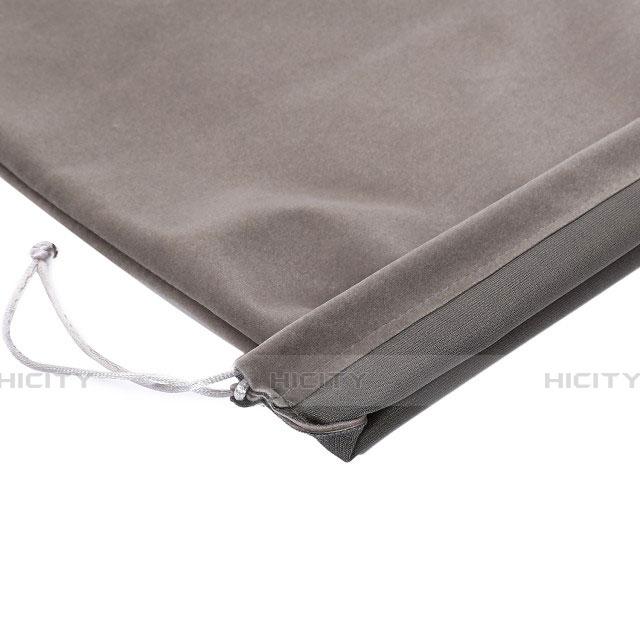 Sacchetto in Velluto Cover Marsupio Tasca per Apple iPad Pro 10.5 Grigio